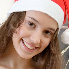 hot brunette x-mas girl