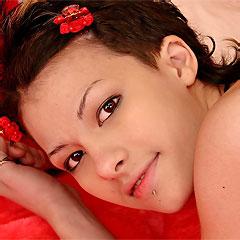 shorthaired brunette teen